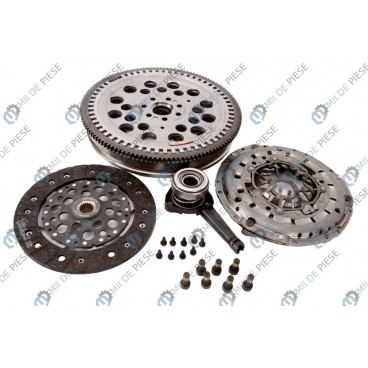 Clutch kit with dual mass flywheel and bearing